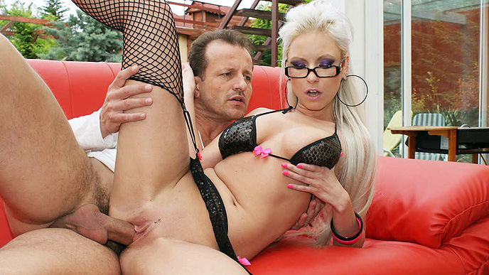 Blonde Babe Alexis Fucked Outdoors